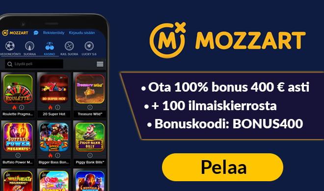 Mozzartbetillä tuplaat talletuksen jopa 400 € asti